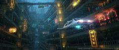 """""""Hyper New York: Underground Chinatown"""" Daniel Kvasznicza.  #sciencefiction #scifi #danielkvasznicza"""