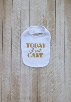 First birthday white and gold First birthday black and gold Smash cake outfit boy Smash cake outfit girl Today I eat cake bib