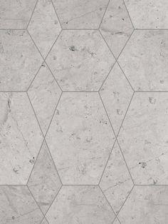 Alameda Hexagon Limestone Flooring Pattern