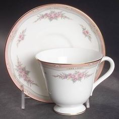 Wedgwood Rosalie Footed Cup & Saucer Set