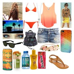 #162: Beach With Harry Styles by exoo on Polyvore featuring moda, LTB, TIKI, A.N.A, Hot Topic, Roberto Coin, TWO-O, H&M, Ray-Ban and Kess InHouse