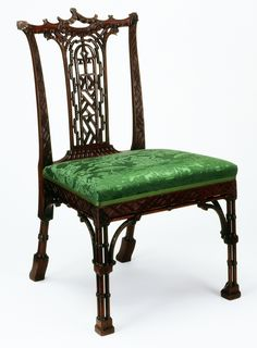 Style Guide: Chinoiserie - Victoria and Albert Museum Chair Unknown maker About 1760 Carved mahogany, modern upholstery Museum no. W.71-1962