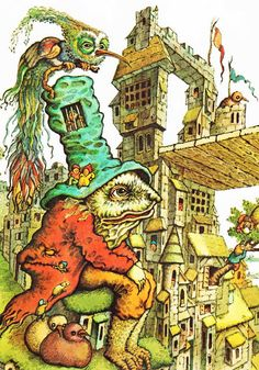 Favorite Tales of Monsters and Trolls George Jonsen ~ John O'Brien ~ Random House, 1977 Vintage Kids' Books My Kid Loves: Favorite Tales of Monsters and Trolls