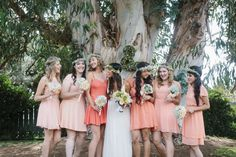 What an adorable photo of the bride and her girls!