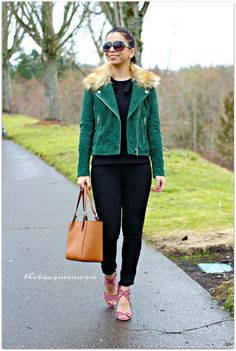 Stitch Fix Shoes | Trunk Club Review| Trunk Club Women | BlankNYC Suede Jacket with Faux Fur Detachable Hood, Topshop Izzy Cold Shoulder Top, Florence Instasculpt Skinny Jeans