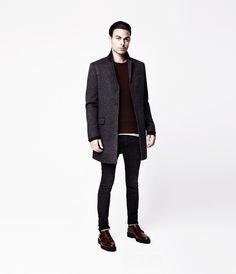 <3 Richmond Coat, Men, Outerwear, AllSaints Spitalfields