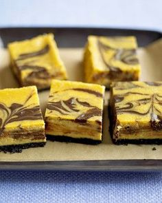 These rich, velvety cheesecake bars feature the flavors of fall.