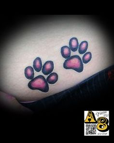 Paw_prints_Color_Ali_Tattoos_Aces_eights_Tatttoo_lakewood_wa