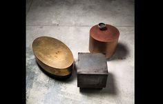 Table basse Loren – 90/52 cm – Laiton vieilli & Laiton Poli | [10surdix]