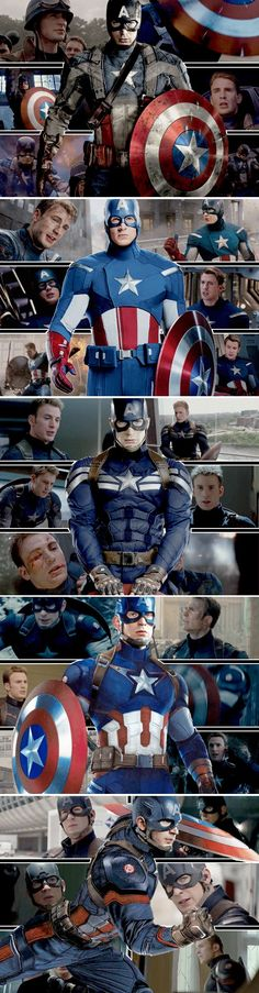 The First Avenger, The Avengers, The Winter Solider, Age of Ultron, Civil War