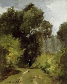 In the Woods - Camille Pissarro - WikiArt.org