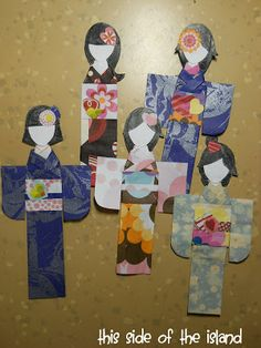 """How to make Japanese Paper Dolls """"Ningyogami"""" from This Side of the Island"""