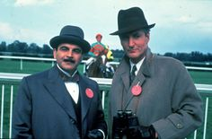 David Suchet (Poirot) and Hugh Fraser (Hastings) in The ABC Murders.