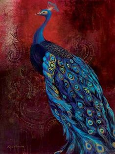 Peacock - Art Nouveau by Artist Unknown