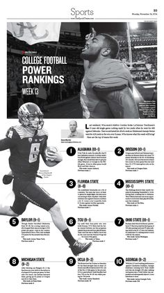 uk availability 905a9 69049 College Football Power Rankings|Epoch Times  Football  editorialdesign  Football Newspaper, Yearbook Mods