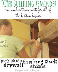 if you're building a room from the studs out this is a great article about remembering all of the different layers of construction and taking them into account when taking all of your measurements.  all DIYers should pin for reference.
