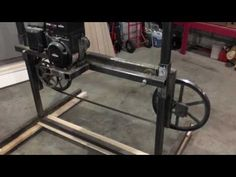 How to build a simple Bandsaw Mill #1 - YouTube