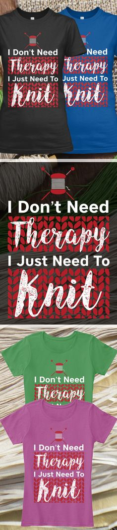 Knitting Therapy - Limited Edition. Grab yours or gift it to a friend. You will both love it