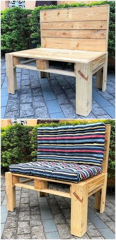 Are you hitting upon your mind to place an innovative designed bench idea in your house? Pallet Lounge, Diy Pallet Sofa, Diy Pallet Projects, Pallet Furniture, Wood Projects, Pallet Benches, Pallet Ideas, Pallet Shelves, Pallet Dining Table