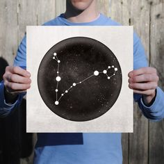 Taurus Constellation Art Print – City Prints, - Famous Last Words Aquarius Constellation Tattoo, Zodiac Constellations, Map Art, Art Prints, City, Cosmic, Tatoos, Twins, Tattoo Ideas