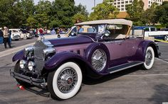 1929 Packard 640 Custom Eight Runabout - purple - photo by Pat Durkin - Orange County, CA - classic cars Vintage Cars, Antique Cars, Buick, Classy Cars, Cadillac, Amazing Cars, Fast Cars, Orange County, Sport Cars