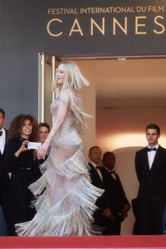 Actress Uma Thurman attends the Closing Ceremony of the 70th annual Cannes Film Festival at Palais des Festivals on May 28 2017 in Cannes France