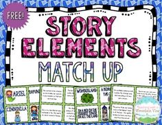 Included in this FREE Story Elements Match Up Set are TWO sets of Story Elements Match Up Cards!The first set includes eight familiar fairytales with a Character, Setting, problem, and Solution card for each.  The second set includes other characters from pop culture and the problems and solutions are much more brief.