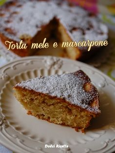 #Apple pie with mascarpone - Torta mele e mascarpone