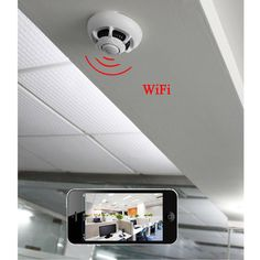 P2P IP Smoke Detector Camera Wireless WIFI Hidden Camera Home Security System #NA