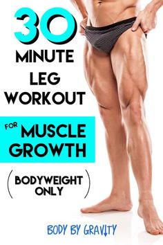 How to Get Insane Legs Without Equipment Body by Gravity is part of Abs workout Use this effective leg workout to increase your leg size and strength to finally eliminate your skinny chicken legs f - Leg Workouts For Men, Leg Workout At Home, Lower Ab Workouts, At Home Workouts, Killer Leg Workouts, Men Exercise, Lifting Workouts, Workout Bauch, Body Fitness