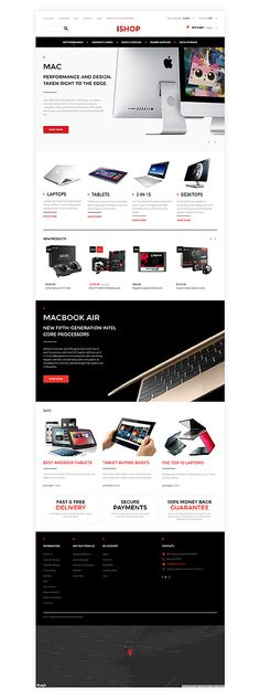 Computers website inspirations at your coffee break? Browse for more Magento #templates! // Regular price: $179 // Sources available: .PSD, .XML, .PHTML, .CSS #Computers #Magento