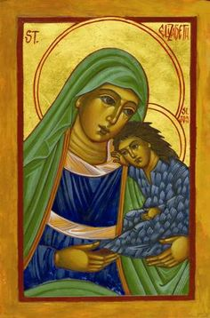 St. Elizabeth and her son John the Baptist