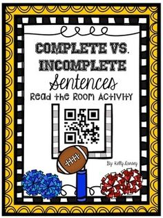 Looking for an activity that is engaging and helps your students practice the difference between complete and incomplete sentences? The search stops here :) This FREE QR code activity makes practicing identifying complete vs. incomplete sentences a little less of a drag.