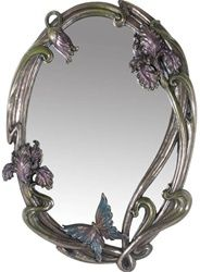 Art nouveau iris mirror. I would love to put this in my bedroom!