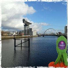 The view up the River Clyde intae #Glasgow this lunchtime #KnitMeAFriend #Microbe #Selfies  http://www.glasgowcityofscience.com/get-involved/knitting-microbes