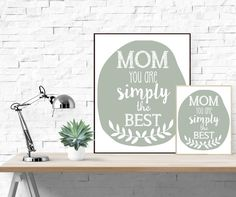 Wanddeko - Muttertag Poster 'Mom You Are Simply The Best' M - ein Designerstück von paperblooming bei DaWanda