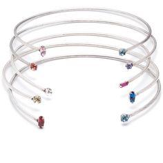 DANNIJO Cielo (1,060 CNY) ❤ liked on Polyvore featuring jewelry, swarovski crystal jewelry, dannijo jewelry, oxidized jewelry and dannijo