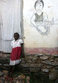 A young girl in Ngaoundaye, Central African Republic