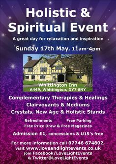 Kidderminster Holistic & Spiritual Event on 17th May