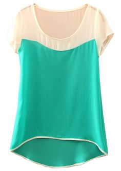 To find out about the Green Batwing Short Sleeve Dipped Hem Chiffon Blouse at SHEIN, part of our latest Blouses ready to shop online today! Structure Clothing, Chiffon, Scarf Dress, Big Girl Fashion, Cute Blouses, Lace Tops, Hijab Fashion, Dress Patterns, Clothes For Women