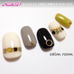 ネイル(No.1548986)|シンプル |チェーン |デート |オールシーズン |グリーン |夏 |リゾート |ブラック |ジェルネイル |ホワイト |ハンド |ミディアム |チップ | かわいいネイルのデザインを探すならネイルブック!流行のデザインが丸わかり! Love Nails, Pretty Nails, Fun Nails, Manicure Y Pedicure, Shellac Nails, Pedicures, Japanese Nail Art, Luxury Nails, Gel Nail Designs