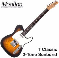 Moollon T Classic Telecaster Sunburst 60's Vintage Sound Tele Electric Guitar #Moollon
