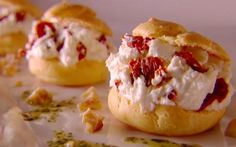 Goat's Cheese and Sun-dried Tomato Profiteroles.