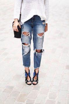 Spring Denim Trend: Frayed hems on jeans