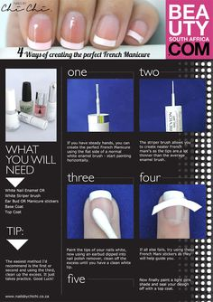 easy french manicure step by - Google-søk
