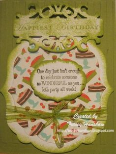 BIRTHDAY CARD WITH STAMPIN UP SIZZIX FRAMELITS