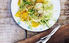 salat m. spidskål, appelsin og fennikel