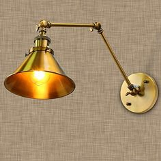 Fuloon Vintage Retro Countryside Golden Wall Lamp Long Arm Pole Swing Arm Wall Mount Light Sconces (bulbs not included) (Golden) Billy Ikea, Ikea Billy Bookcase, Bookshelves Built In, Bookshelf Styling, Book Shelves, Bedside Lighting, Wall Sconce Lighting, Wall Sconces, Wall Lamps
