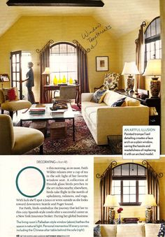 Creative window treatments for arched window.