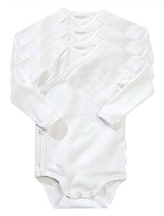 *Happy Price Pack of 3 long-sleeved bodysuits for Newborn Ba WHITE £10